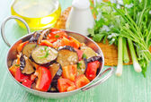 Fried vegetables — Stock Photo