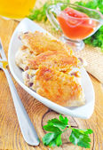 Chicken in a dish — Stockfoto