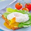 Sandwich with egg — Stock Photo