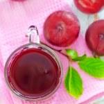 Plum juice — Stock Photo