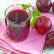 Plum juice — Stock Photo