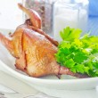 Baked quail — Stock Photo