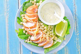 Salad on a plate — Stock Photo