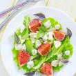 Salad with cheese and figs — Stock Photo #31538185