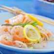 Salad with shrimps — Stock Photo #31538445