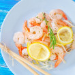 Salad with shrimps — Stock Photo #31538459