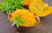 Grated pumpkin — Stock Photo