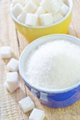 Sugar in bowls — Stock Photo