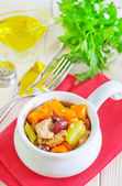 Baked meat with vegetables — Stock Photo