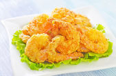 Fried shrimps — Stock Photo