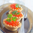 Tartalets with caviar — Stock Photo #32172779