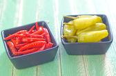 Peperoni in una ciotole — Foto Stock