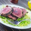Stock Photo: Beef steak with fresh salad