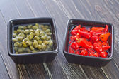 Chili and capers — Stock Photo