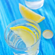 Stock Photo: Water with lemon
