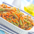 Green beans with carrot — Foto Stock