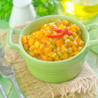Corn and peas — Stock Photo