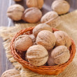 Walnuts in basket — Stock Photo #33102933