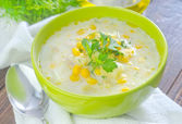 Corn soup — Stock Photo