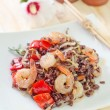Fried rice with shrimps — Stok Fotoğraf #33586921
