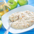 Oat flakes with apples — Stock Photo