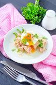 Tuna and egg — Stock Photo