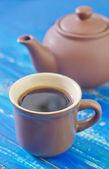 Koffie in een kopje — Stockfoto