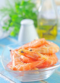 Shrimps in a bowl — Stock Photo
