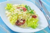 Kuskus with tomato — Stock Photo