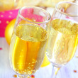 Stock Photo: Champagne flutes