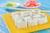 Sushi in a plate — Stock Photo