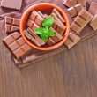 Chocolate in a bowl — Stock Photo