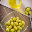 Green olive — Stock Photo