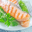 Fried salmon — Stock Photo #34629673