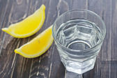 Water with lemon — Stock Photo