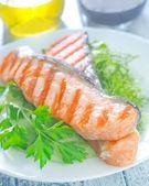 Fried salmon — Stock Photo
