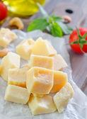 Sliced parmesan — Stock Photo