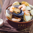Seafood in a bowl — Stock Photo