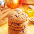 Cookies and christmas decoration — Stock Photo #34963941