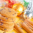 Cookies and christmas decoration — Stock Photo #34963953