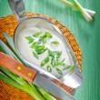 Sour cream with onion — Stock Photo