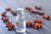Anise and oil — Foto Stock