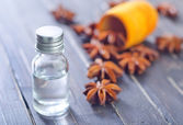 Anise and oil — Stock Photo