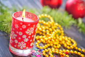 Christmas candle — Photo