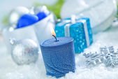 Christmas candle — Stockfoto