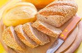 Skivat bröd — Stockfoto