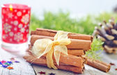 Cinnamon on a table — Stock Photo
