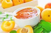 果酱、 杏 — 图库照片