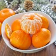 Mandarins in a bowl — Stock Photo