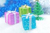 Cajas de regalo de navidad — Foto de Stock